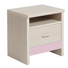 Fanfair Kids Bedside in Beech with Pink Trim is suitable for tots to teens, finished in high quality easy to clean Melamine, and available with a choice of Blue/Pink or Beige colour trims. #Furniture #BedroomFurniture #BedsideTrim http://pricecrashfurniture.co.uk/fanfair-kids-bedside-in-beech-with-pink-trim.html