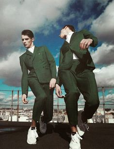 HUNTER MAGAZINE: Adrien Sahores & Janis Ancens by Photographer Alesso Bolzoni