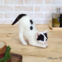 ネコ作りの現場から~横山まゆみのリアルで可愛い羊毛フェルト猫の画像