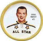 1962-63 Shirriff Coins #45 Doug Harvey Front