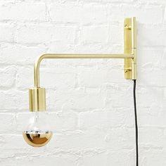 swing arm brass wall sconce