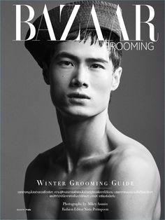 Mikey Asanin photographs Hao Yun Xiang for Harper's Bazaar Men Thailand. Dec 2016