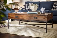 Always the center of attention. Our Shipyard coffee table is so sturdy yet gorgeous. Update your nautical space!