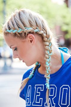 Game Day Hairstyle Ideas - Ribbon Braids Tutorial - Seventeen.com