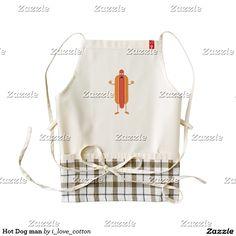 Hot Dog man Zazzle HEART Apron