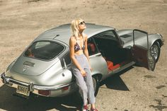 Relax, sit back, bring your sunnies & join Linda Tol to Hilfiger Island! Jaguar Xj40, Jaguar Type, Jaguar Cars, Classic Cars British, British Sports Cars, E Type, Car Girls, Sport Cars, Vintage Cars