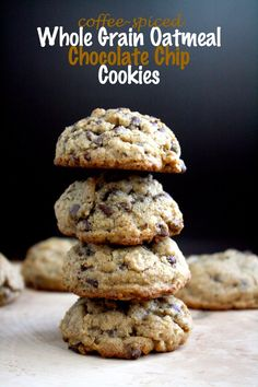 coffee-spiced oatmeal chocolate chip cookies // cait's plate