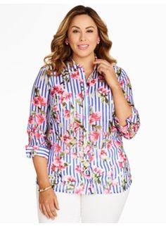 Flowers & Stripes Shirt