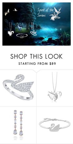 """""""Swans- My Spirit Animal"""" by rubysal ❤ liked on Polyvore featuring Swarovski, Origami Jewellery and contestentry"""