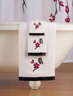 Cherry Blossom 3-Pc.Towel Set
