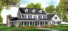 2 Story Colonial House Plans for Sale - Original Home Plans
