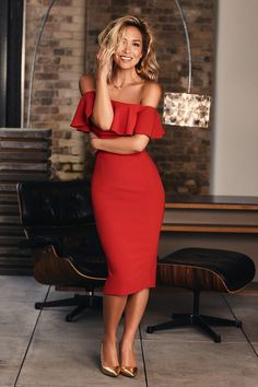 Myleene Klass, pictured above, says: 'It's tough to choose a favourite but I adore the red lace dress'