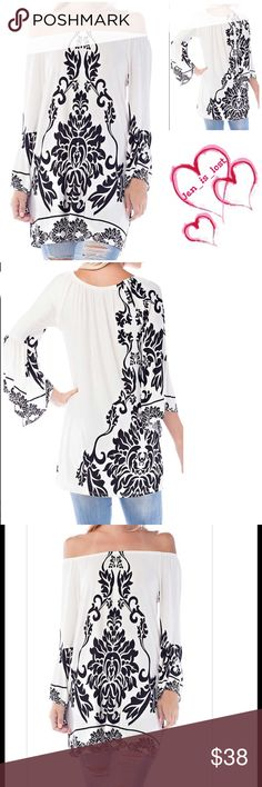 Arrives 8/15❗️ Paisley Bell Sleeve Top BELL SLEEVE PAISLEY PRINT LOOSE FIT TUNIC  Fabric: 92% POLYESTER, 8% SPANDEX Tops