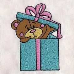 Free Embroidery Design: Cute Teddy Bear