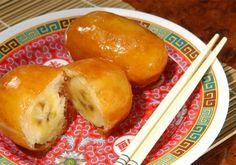 Banana Caramelada com Gergelim