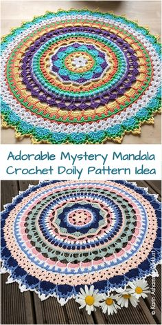 crochet square patterns Unicorn Mandala Free Crochet Pattern - All the best free crochet patterns.You'll love to make this gorgeous Mandala Rug and it's an easy FREE Pattern. We've included lots of Free Patterns plus a Crochet Doily Rug for you to try! Crochet Afghans, Crochet Doily Rug, Crochet Mandala Pattern, Afghan Crochet Patterns, Crochet Yarn, Crochet Stitches, Crochet Mandela, Crochet Gratis, Free Crochet