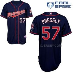 http://www.xjersey.com/twins-57-pressly-blue-cool-base-jerseys.html TWINS 57 PRESSLY BLUE COOL BASE JERSEYS Only $43.00 , Free Shipping!