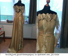 bruidsjurk goud/champagne jos exler