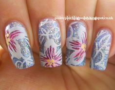 Nails by 'Pueen65' Tropical Hibiscus Decals✿❦✿❦✿
