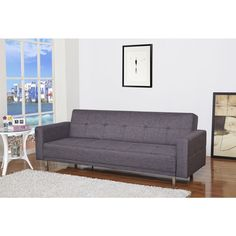 Cleveland Dark Gray Convertible Sofa Bed - living room/ family room