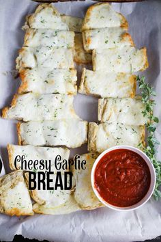 Make this quick and easy cheesy garlic bread as your main dish or as a side to your favorite pasta!