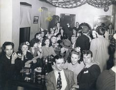 New Years Eve Party - 1940's  This was taken sometime after WW 2 in a corner tavern at North Avenue and Throop Street on New Years Eve.