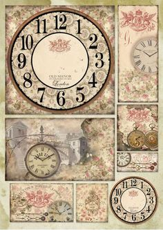 Decoupage-paperi Watch and Roses