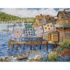 Design Works Counted Cross Stitch Kit Dockside Quilts