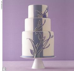 Purple vine wedding cake.