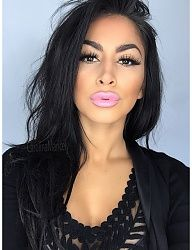 Pink Lips, Lashes, Dark Hair-Cutie Girl