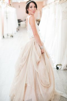 Skirt cute .... One of my favorite engaged moments wasdress shopping without a doubt. But oh, what an adventure it is as you dive into the racks of gorgeous gowns! We're in luck m'dears, for Lovely Bride SF is here to share their