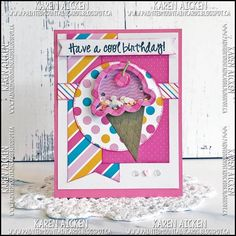 Happily playing with paper, stamps and dies . paper creations by Karen Aicken Scrapbook Birthday Cards, Birthday Verses, Slider Cards, Card Patterns, Pretty Cards, Card Sketches, Kids Cards, Recipe Cards, Card Sizes