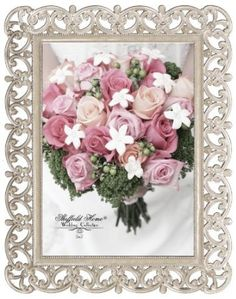 amazoncom sheffield home decorative wedding metal and jewel picture frame 5 by