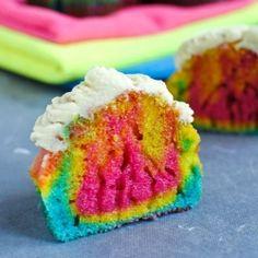 tie-dyed rainbow cupcakes!