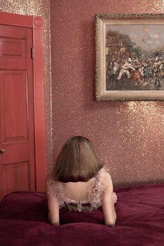 hotelzimmer Wandgestaltung mit Farbe wand streichen ideen glitzern