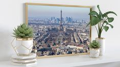 High quality photo or canvas print of a beautiful skyline of Paris and it's iconic Eiffel Tower. Best quality for your best memories! For that reason, we print your photos exclusively on high-quality premium paper with a 100-year color guarantee (color-fast, UV-resistant). Great Quality, low cost canvas printing, strung and ready for instant hanging. Our canvas prints are the lightest wall art alternative after simple posters, making them ideal for light walls, such as in old buildings.