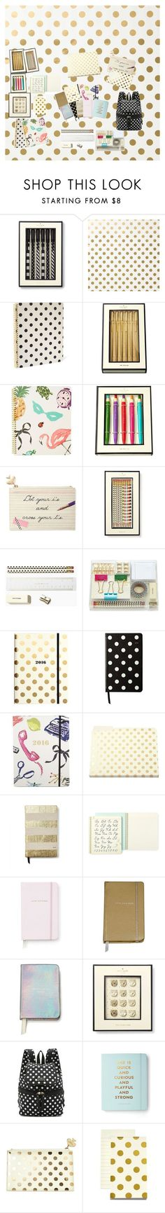 Kate Spade School Supplies by taste-by-teenz on Polyvore featuring Kate Spade