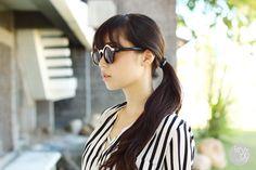 Thirstythought by Kryz Uy, Womens Designer Inspired Round Sunglasses 8606