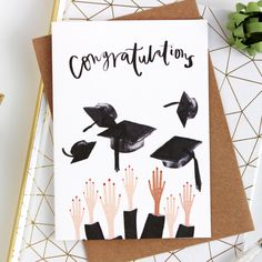 Graduation Congratulations Card - A quirky graduation celebration card for any one who has passed their exams, finished their degree o - Graduation Cards Handmade, Graduation Diy, Graduation Celebration, Love Cards, Diy Cards, Graduation Drawing, Congratulations Card Graduation, Card Drawing, Drawing Ideas