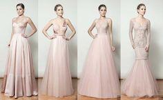 vestido de festa rosa claro Wedding Bridesmaids, Bridesmaid Dresses, Prom Dresses, Formal Dresses, Wedding Dresses, Cocktail Dresses Evening Wear, Evening Dresses, Sweet Dress, Party Fashion