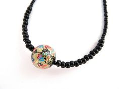Japanese Decal Bead Necklace £11.00
