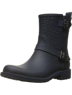 aa48c4a01c86b1 Sam Edelman Women s Keigan Eclipse Navy Black Rubber Boot 11 M ❤ Sam Edelman