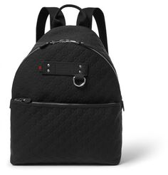 GUCCI Embossed Leather Backpack. #gucci #bags #leather #canvas #backpacks