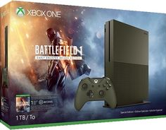 xbox-one-s-battlefield-1-special-edition-bundle-1tb Xbox One S 1tb, Xbox 1, Buy Xbox, Buy Playstation, Battlefield 1, Microsoft, Console Xbox One, One Deal, Amazon Video