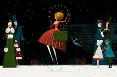New Year's production for Raiffeisen Bank by Julia Valeeva, via Behance