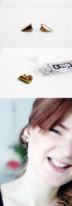 Fall For DIY Gold Cuff Earring Tutorial