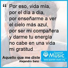 Alejandro Sanz - Aquello que me diste  http://www.spanish-music.org/videos/alejandro-sanz-aquello-que-me-diste-music.php