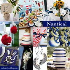 Nautical Wedding Theme- The use of rope and anchors is so much fun
