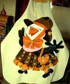 O avental pintado