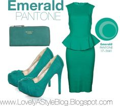EMERALD: Well, the outfits are IN! We love the new colors PANTONE has released for Spring 2013, so we put together a few monochromatic looks surrounding the hues. Enjoy!